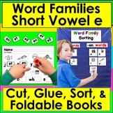 Word Families Word Work:  Short Vowel e: en, et, ed, ell, eck, est