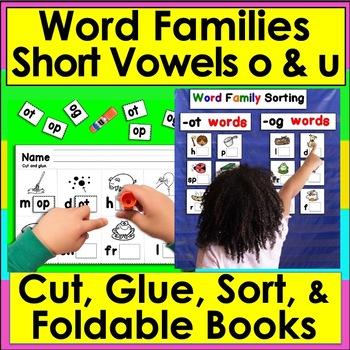 Word Families Word Work: ot, og, op, ug, ub, un, ut