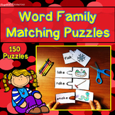 Word Families: Word Family Matching Puzzles - Workshop Activity