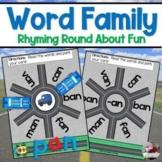 Word Families Turn Abouts- Matchbox Car Fun