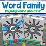 Word Families Turn Abouts- Matchbox Car Fun