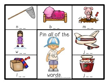 Word Families - Self-Checking Reading Centers - CVC Words