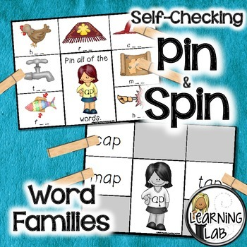 Word Families - A Pin & Spin Activity