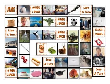 Word Families ACK-AD-AIL-AKE-AIN-ALE-ALL-AM-AN-ANK Board Game