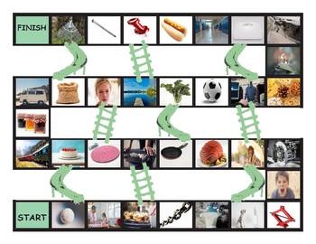 Word Families ACK-AD-AIL-AKE-AIN-ALE-ALL-AM-AN-ANK Chutes-Ladders Game