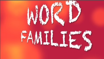 Word Families AD