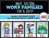 Word Families {AKE} Snapshot Mini Unit {Kindergarten & First} Rhyming Words