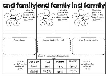 Word Families AND END IND