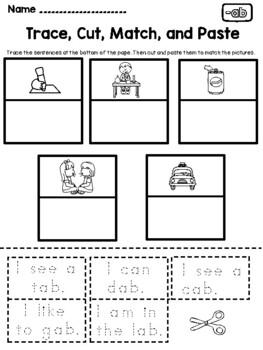 CVC Word Family Worksheets (AP Family)