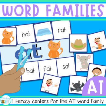 Word Families Word Work - AT