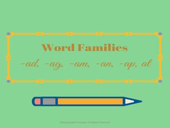 Word Families Activity Set