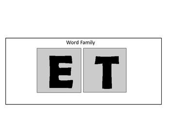 Word Families Activity Set - Prefix, Suffix, Rhyming