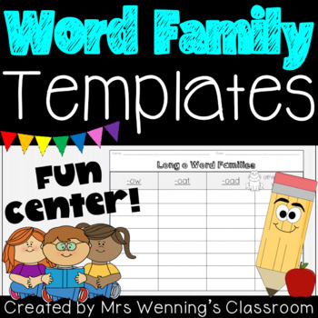 Word Families Activity Templates!
