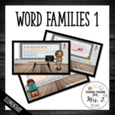 Word Families Activity for Early Readers Level 1