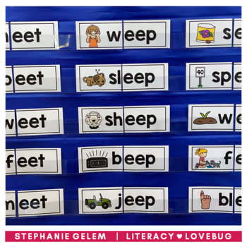 Word Families: Long Vowels Onset and Rime Cards