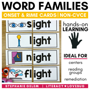 Word Families Long Vowels Onset and Rime Cards