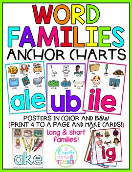 Word Families Anchor Charts