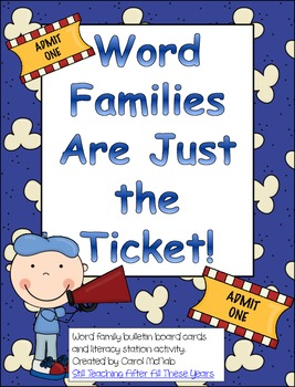 Word Families Are Just the Ticket!