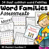 Reading Assessments: Word Families: Includes activities great for RTI and IEP