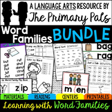 CVC Word Families Worksheets, Centers, Guided Reading
