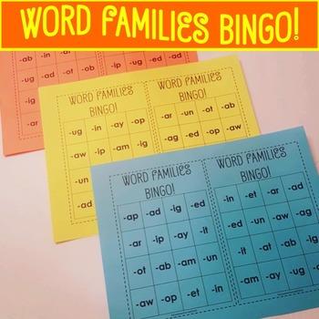 Word Families Bingo