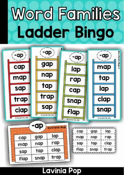 Word Family Ladder Bingo