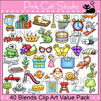 Blends Clip Art Value Pack - Word Familites