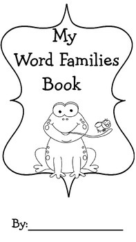 Word Families Book ~   Cut, Paste, Sort  and Draw