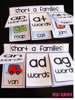 Short Vowels Word Families Books Bundle