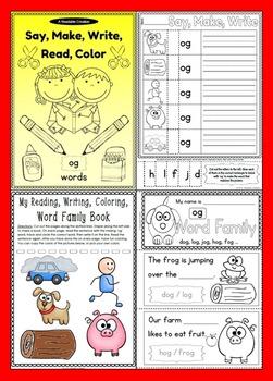 Word Families Bundle - Say, Make, Write, Read, Color