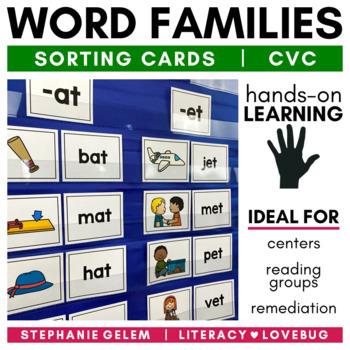 Word Families: CVC Short Vowel Sorts