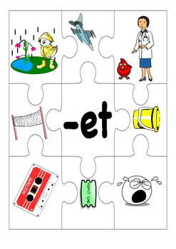 Word Families, CVC jigsaw short vowels game
