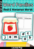 Word Families Real and Nonsense Words Sorting (CVC and CCVC words)
