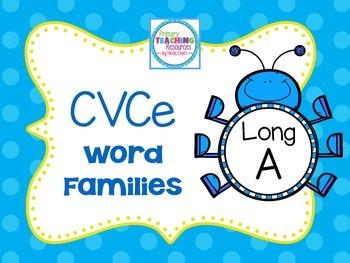 Long A Word Families: CVCe