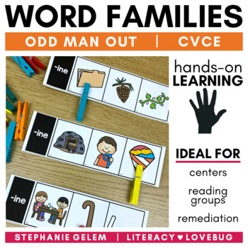 Word Families CVCe Long Vowels Clip Strips