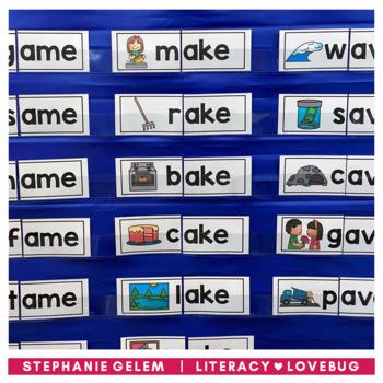 Word Families CVCe Long Vowels Activities BUNDLE