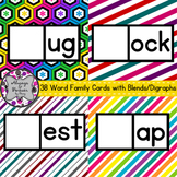 Word Families Cards-38 Word Families with Blends and Digraphs