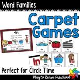 Word Families Carpet Games