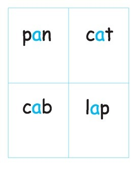 Word Families - Cat Game