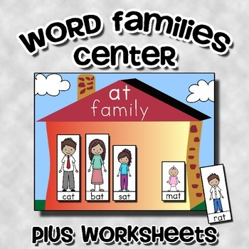 Word Families Center Activity (with worksheets)