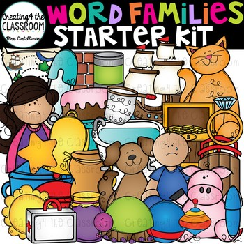 Word Families Clip Art Starter Kit {Word Family Clip Art}