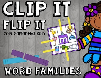 Word Families Clip and Flip Station