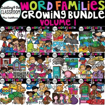 Word Families Clip art Growing Bundle {Word Family Clip Art}