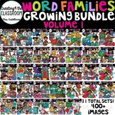 Word Families Clip art Growing Bundle {Word Family Clip Art}