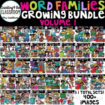Word Families Clipart Growing Bundle 1 {Word Family Clip Art}