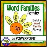 Word Families PowerPoint - Phonograms Spring Flowers Craftivity