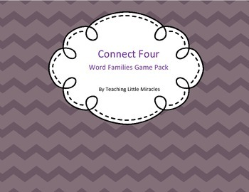 Word Families Connect Four Game Pack