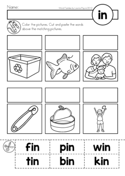 CVC Worksheets: Cut and Paste Letter A - Only Passionate Curiosity