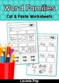 CVC Word Families No Prep Cut & Paste Worksheets Distance Learning