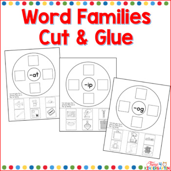Word Families Cut and Glue